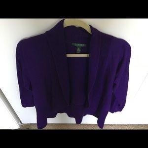 Ralph Lauren purple short sweater.